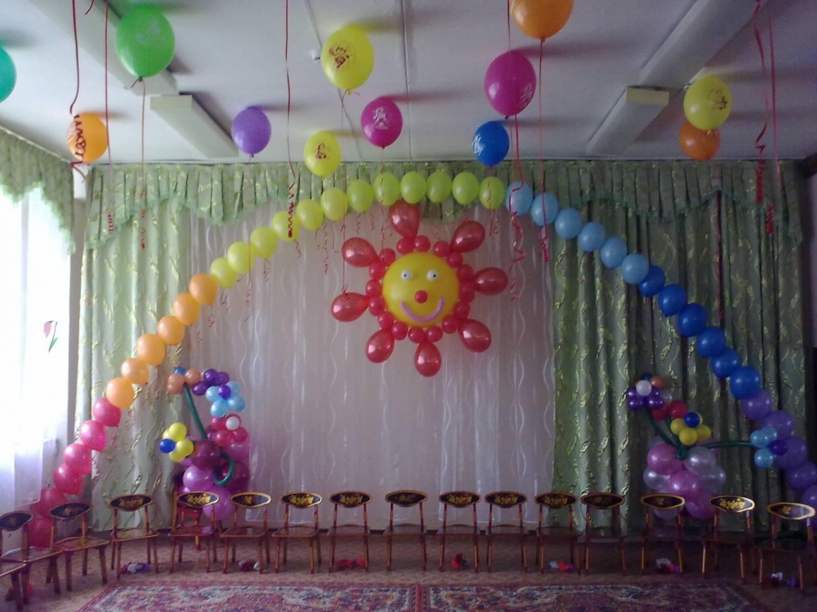 Украшение залов своими руками выпускному в детском саду фото